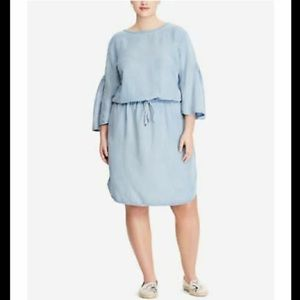 Lauren Ralph Lauren Plus Size Twill Dress